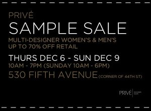 prive-sample-sale